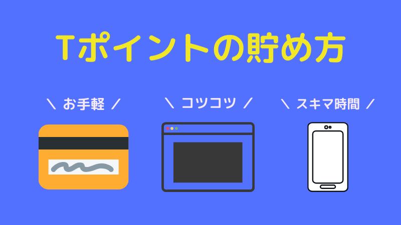 【Let's ポイ活】Tポイントの貯め方3選! 【ポイントは現金に換える時代】